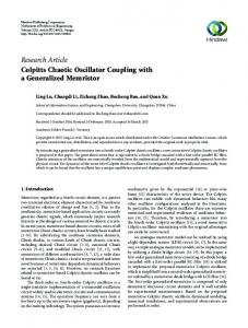 Research Article Colpitts Chaotic Oscillator Coupling with a ...