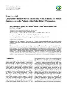 Research Article Comparative Study between Plastic and ... - Hindawi