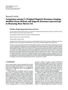 Research Article Comparison among T1-Weighted ... - ScienceOpen