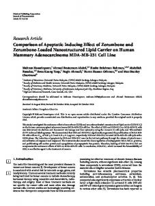 Research Article Comparison of Apoptotic Inducing ...