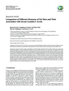 Research Article Comparison of Different Measures ...