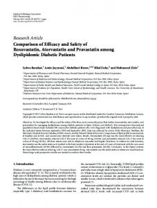 Research Article Comparison of Efficacy and Safety of ... - ScienceOpen