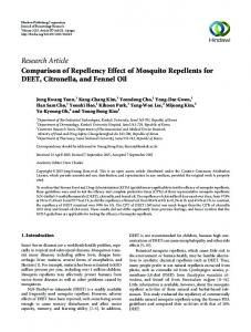 Research Article Comparison of Repellency Effect ...