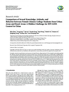Research Article Comparison of Sexual Knowledge ...