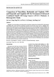 RESEARCH ARTICLE Comparison of Vinorelbine, Ifosfamide and ...