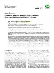 Research Article Complexity Measures for
