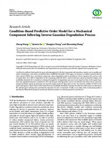 Research Article Condition-Based Predictive Order
