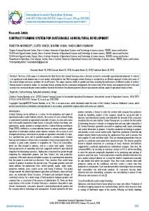 Research Article CONTRACT FARMING SYSTEM ... - BioInfo Publication