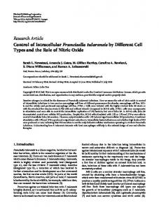 Research Article Control of Intracellular Francisella ... - BioMedSearch