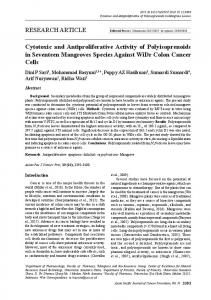 RESEARCH ARTICLE Cytotoxic and Antiproliferative Activity of