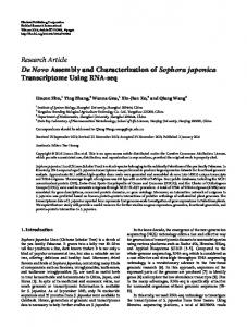 Research Article De Novo Assembly and ... - ScienceOpen