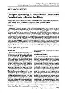 RESEARCH ARTICLE Descriptive Epidemiology of Common Female ...