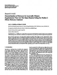 Research Article Determination of Mercury in ... - ScienceOpen