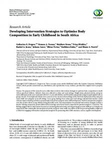 Research Article Developing Intervention Strategies