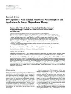 Research Article Development of Near Infrared ...