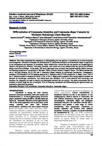 Research Article Differentiation of Entamoeba