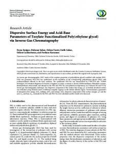 Research Article Dispersive Surface Energy and Acid