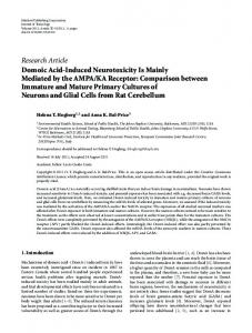 Research Article Domoic Acid-Induced Neurotoxicity ... - BioMedSearch