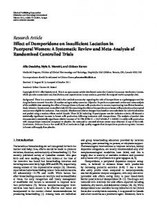 Research Article Effect of Domperidone on Insufficient ... - ScienceOpen