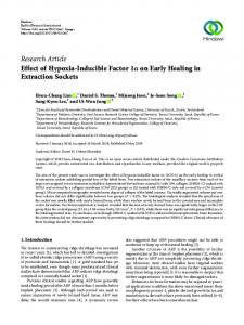 Research Article Effect of Hypoxia-Inducible Factor 1     on ... - Hindawi