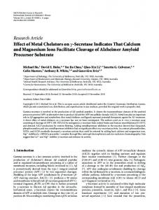 Research Article Effect of Metal Chelators on γ ... - ScienceOpen