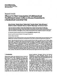 Research Article Effects of 16-Week Consumption of ... - ScienceOpen