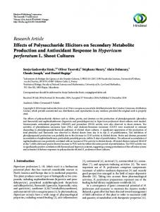 Research Article Effects of Polysaccharide Elicitors on