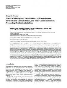 Research Article Effects of Prickly Pear Dried ... - University of Petra