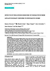 Research article EFFECTS OF PROLONGED EXERCISE ON ...
