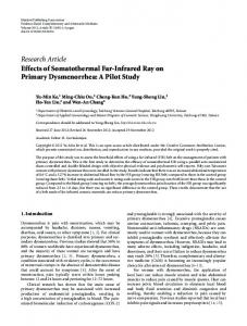 Research Article Effects of Somatothermal Far-Infrared Ray on Primary ...