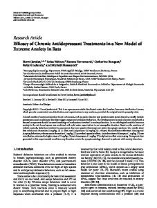 Research Article Efficacy of Chronic Antidepressant ... - ScienceOpen