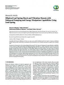 Research Article Elliptical Leaf Spring Shock and ...