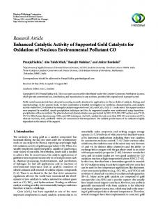 Research Article Enhanced Catalytic Activity of