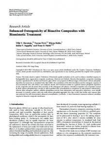 Research Article Enhanced Osteogenicity of ... - BioMedSearch