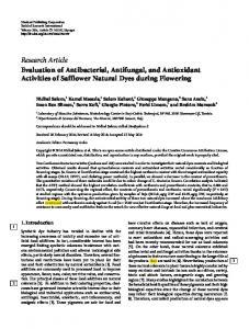 Research Article Evaluation of Antibacterial ...