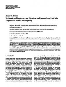 Research Article Evaluation of Erythrocytes, Platelets ... - ScienceOpen