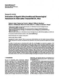Research Article Evaluation of Hepatic Mitochondria ... - ScienceOpen