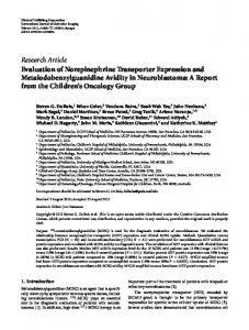 Research Article Evaluation of Norepinephrine ... - ScienceOpen