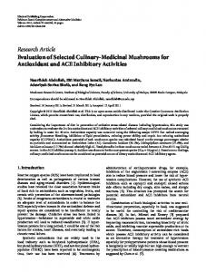Research Article Evaluation of Selected Culinary ... - BioMedSearch