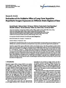 Research Article Evaluation of the Oxidative Effect of ... - BioMedSearch