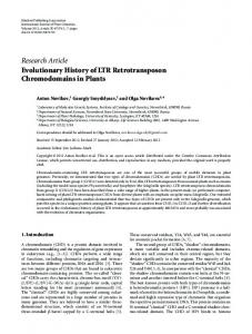 Research Article Evolutionary History of LTR ... - ScienceOpen