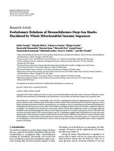 Research Article Evolutionary Relations of ... - BioMedSearch