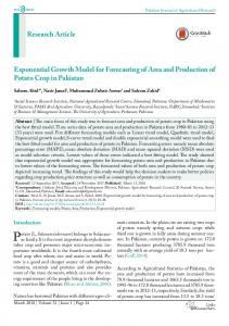 Research Article Exponential Growth Model for ... - ResearchersLinks