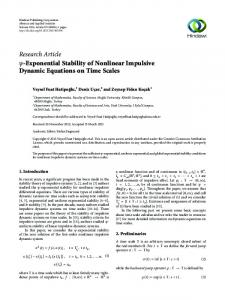Research Article -Exponential Stability of Nonlinear ... - Hindawi