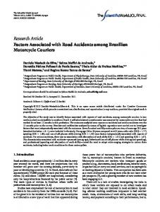 Research Article Factors Associated with Road ... - BioMedSearch
