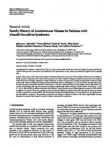Research Article Family History of Autoimmune ... - ScienceOpen
