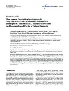 Research Article Fluorescence Correlation ... - BioMedSearch