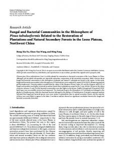 Research Article Fungal and Bacterial Communities in ... - ScienceOpen