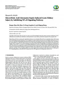Research Article Glycyrrhizic Acid Attenuates Sepsis ... - Hindawi