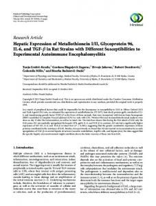 Research Article Hepatic Expression of